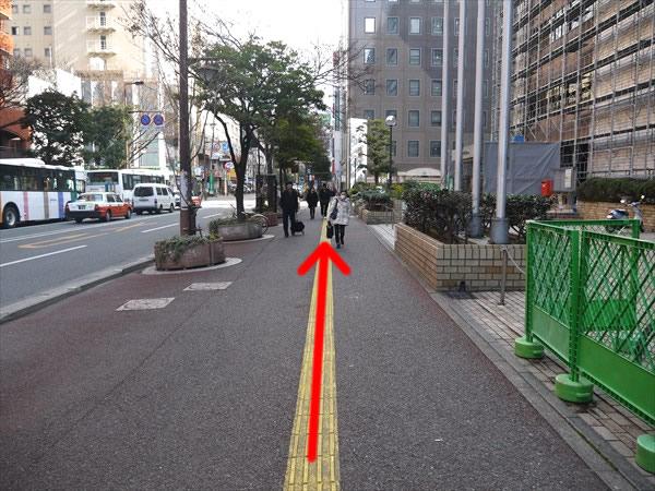 福岡市役所前を直進