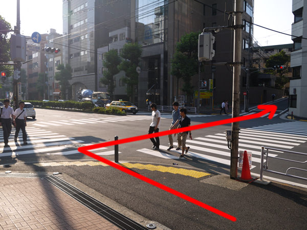 交差点を違う角度から見たとき