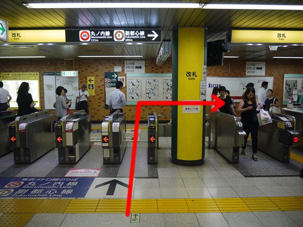 都営新宿線の改札