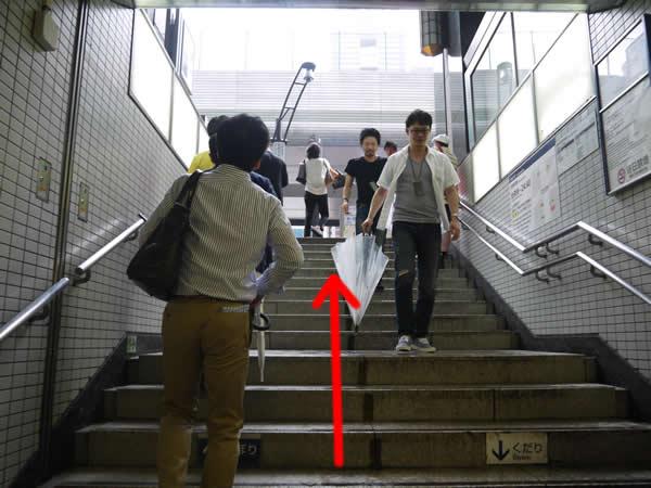3番出口への階段