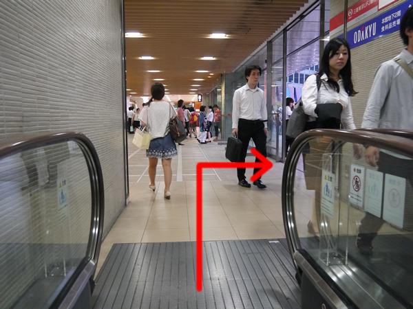 小田急の出入り口付近