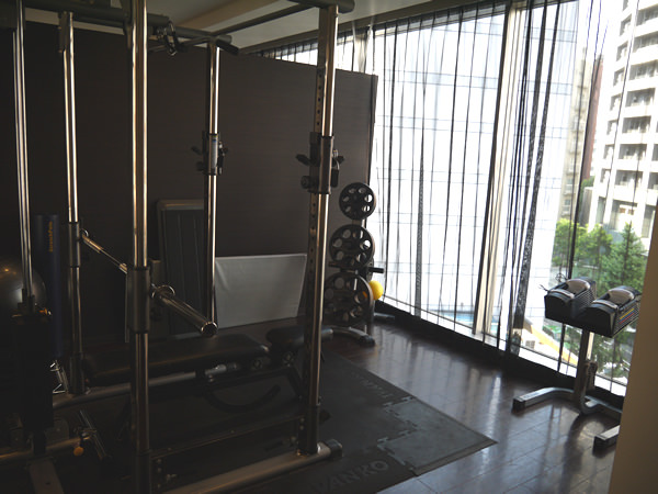 開放感のあるトレーニングルーム