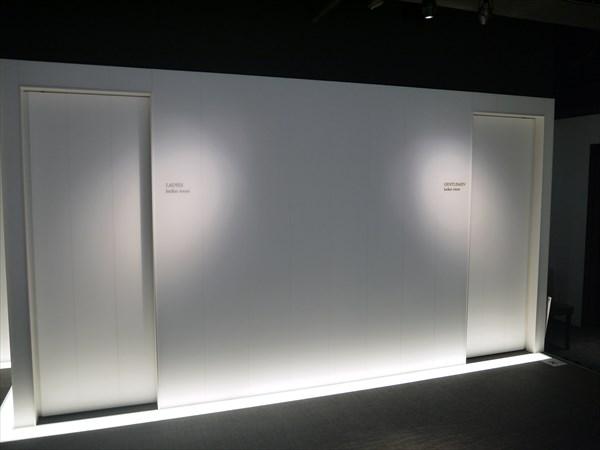 男性用ロッカールームと女性用ロッカールームの入り口