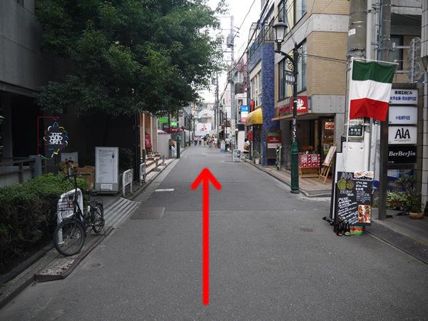 原宿通りの出口が見える場所