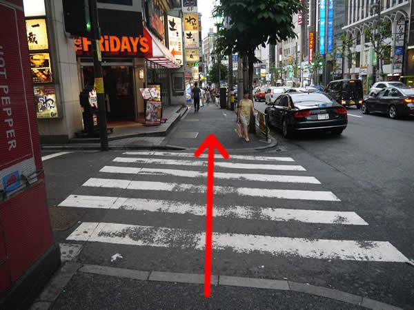 信号のない横断歩道