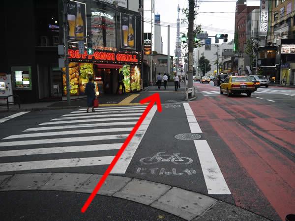 信号のある横断歩道