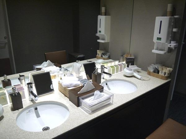 洗面化粧台の様子