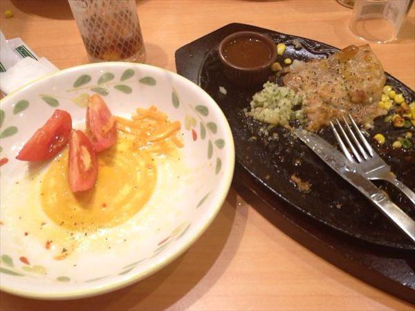3日目の昼食(食後)