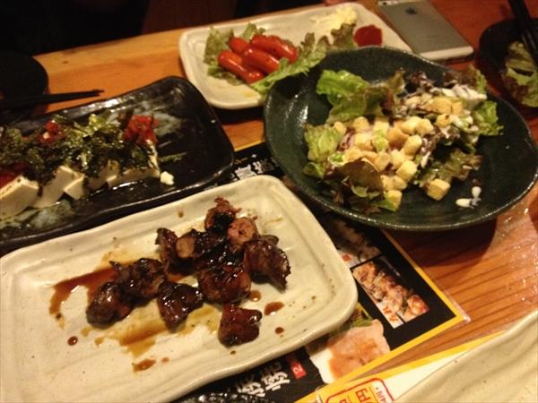 サラダや豆腐