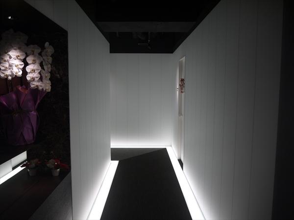 カウンター前から見た廊下