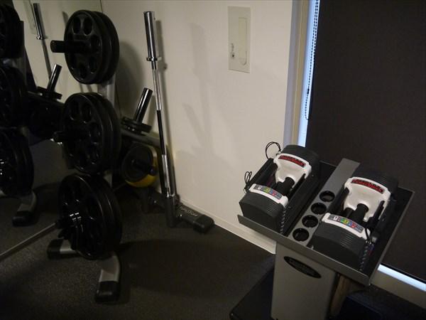 ダンベルやプレートといったトレーニング機器