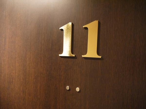 トレーニングルームのドア