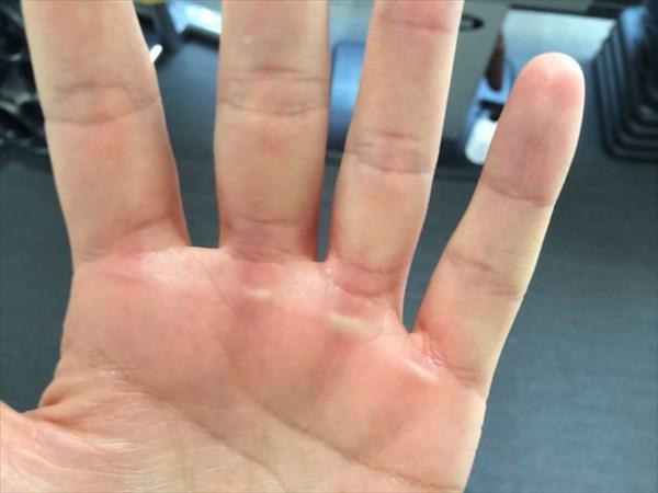 チンニング後の手