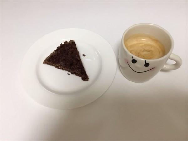 おからケーキとコーヒー