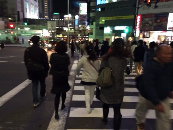 渋谷駅に向かう途中