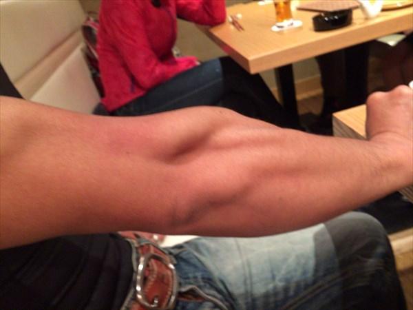 ショーさんの腕の筋肉