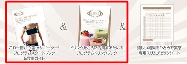 ライザップスタイルスタートブック&食事ガイドイメージ