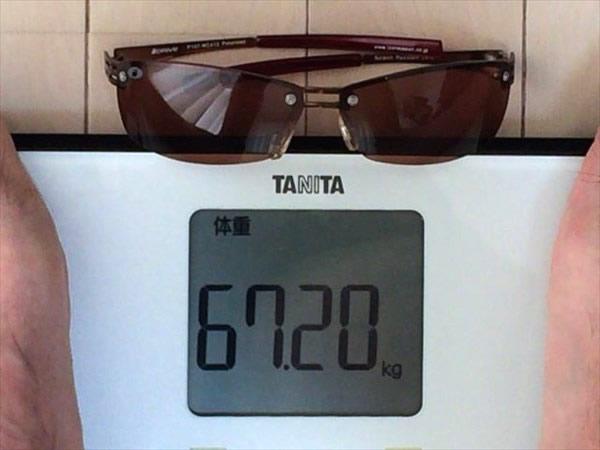1日目の体重67.2キロ
