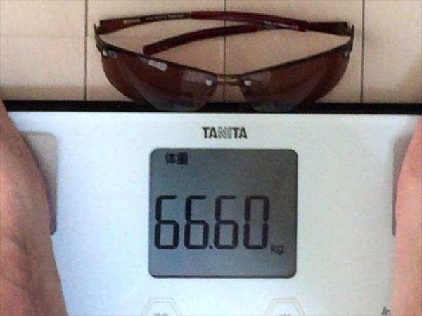 2日目の体重66.6キロ