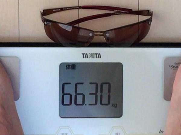 4日目の体重66.3キロ