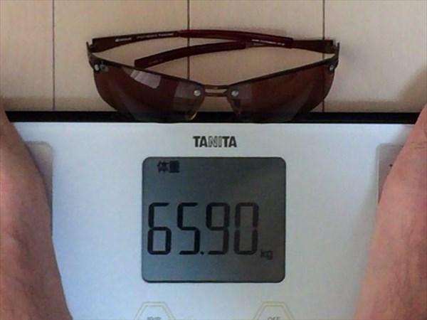 5日目の体重65.9キロ