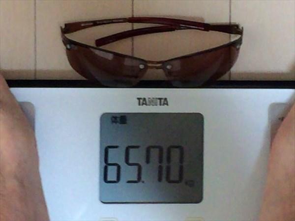 6日目の体重65.7キロ