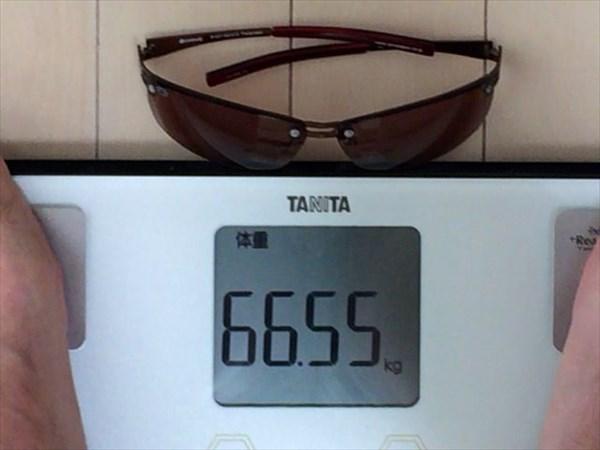8日目の体重66.55キロ