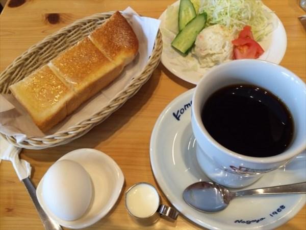 11日目の朝食はコメダコーヒーのモーニング