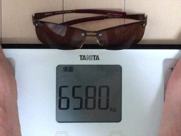 11日目の体重65.8キロ