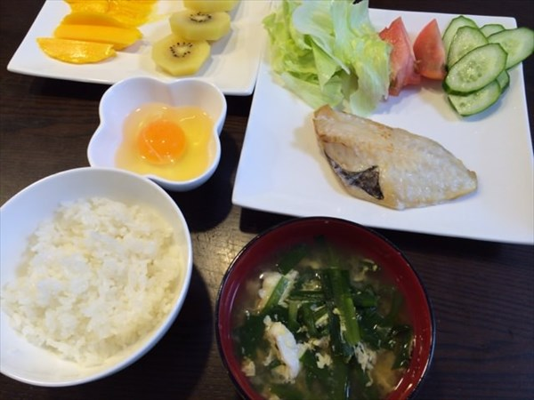 16日目の朝食