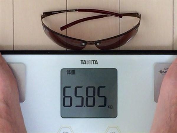 16日目の体重65.85キロ