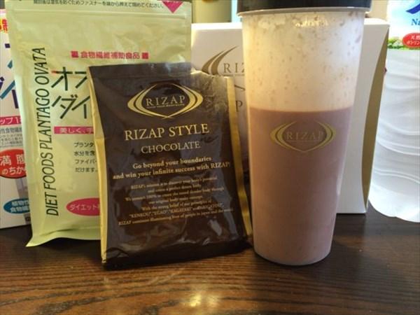 24日目のライザップスタイルドリンク(チョコレート味)