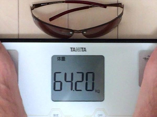 26日目の体重64.2キロ