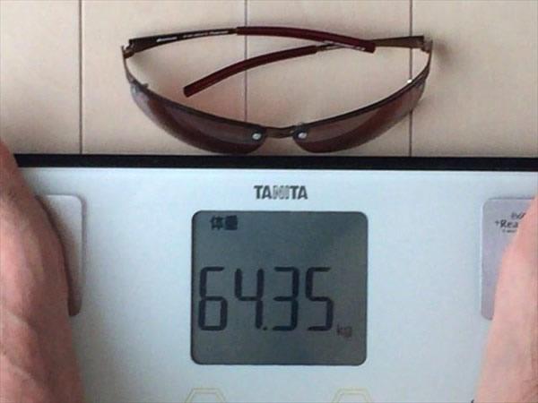 28日目の体重64.35キロ