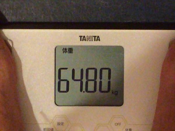 7月2週目の体重64.8kg