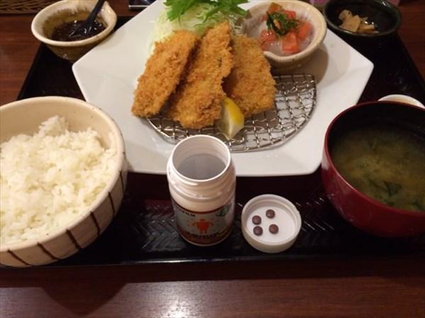 大戸屋のアジフライ定食とメタバリアNEO