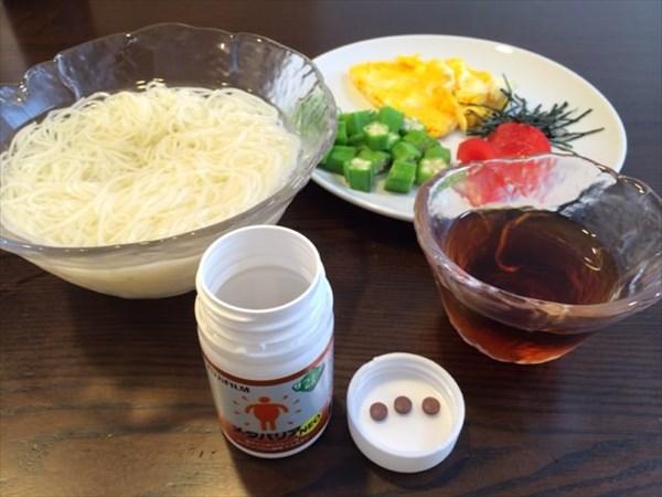冷やし中華風素麺とメタバリアNEO
