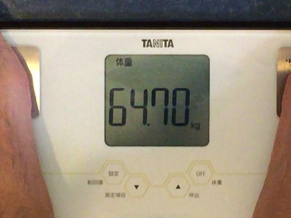 2014年7月4週目の体重64.7キロ