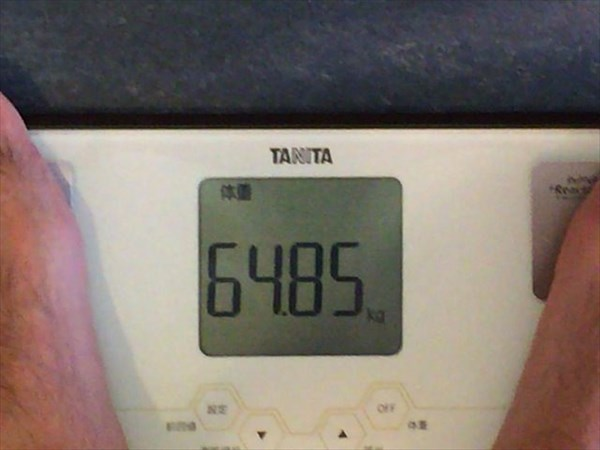 2014年8月第2週目の体重64.85kg