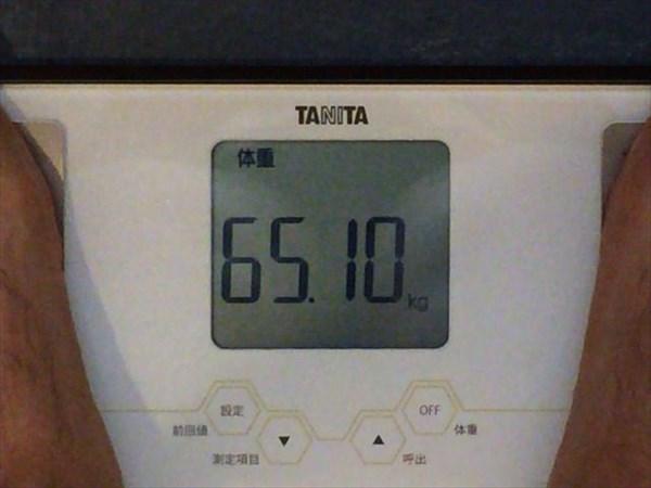 2014年8月第3週目の体重65.1kg