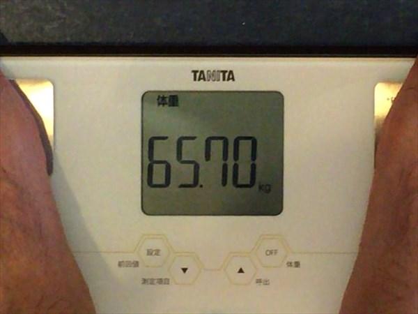 2014年8月第4週目の体重65.7kg
