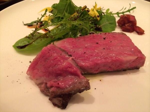 処女牛のステーキ