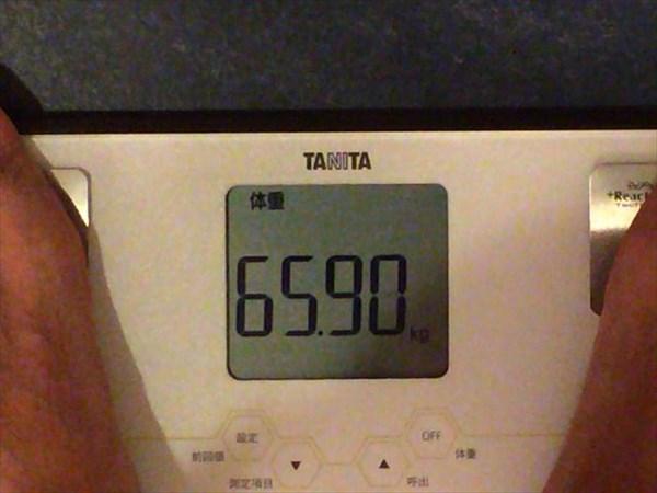 2014年8月第5週目の体重65.9kg