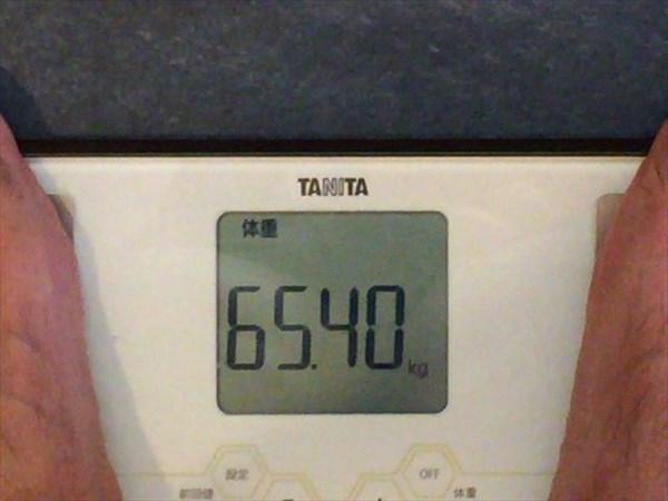 2014年9月第1週目の体重65.4kg