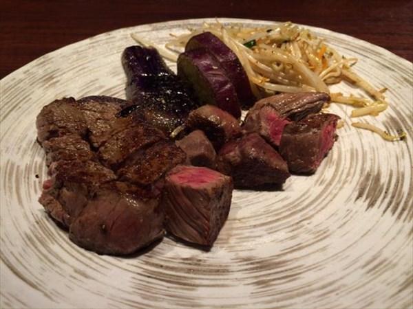 熟成和牛(いちぼ)の鉄板焼きステーキランチ