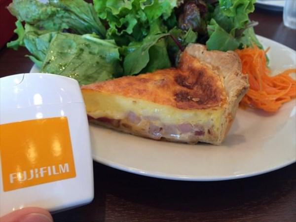 ハムとチーズのキッシュとメタバリア