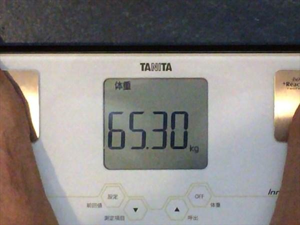 2014年9月第2週目の体重65.3kg
