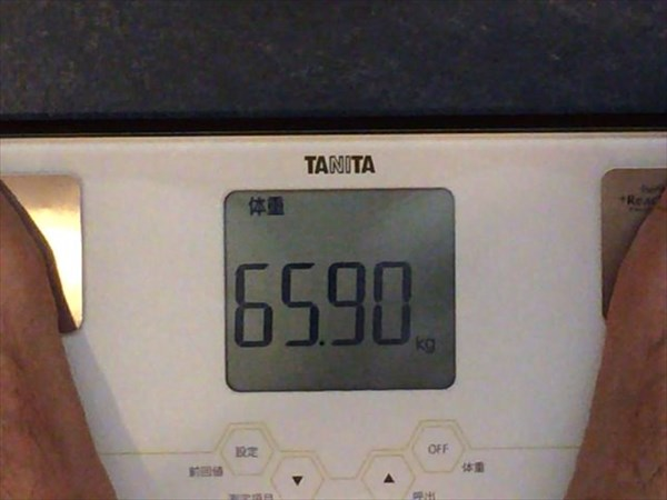 2014年9月第3週目の体重65.9kg