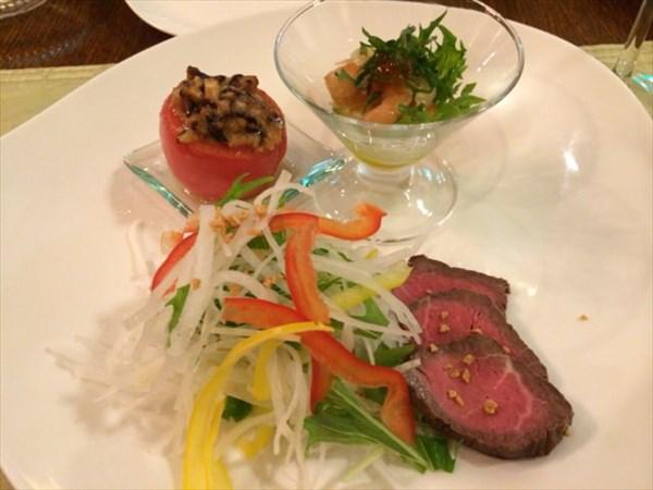 ルポゼディナーの前菜3種