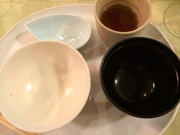 ご飯とお味噌汁を完食